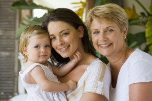 Portrait of mother, daughter, and grandmother